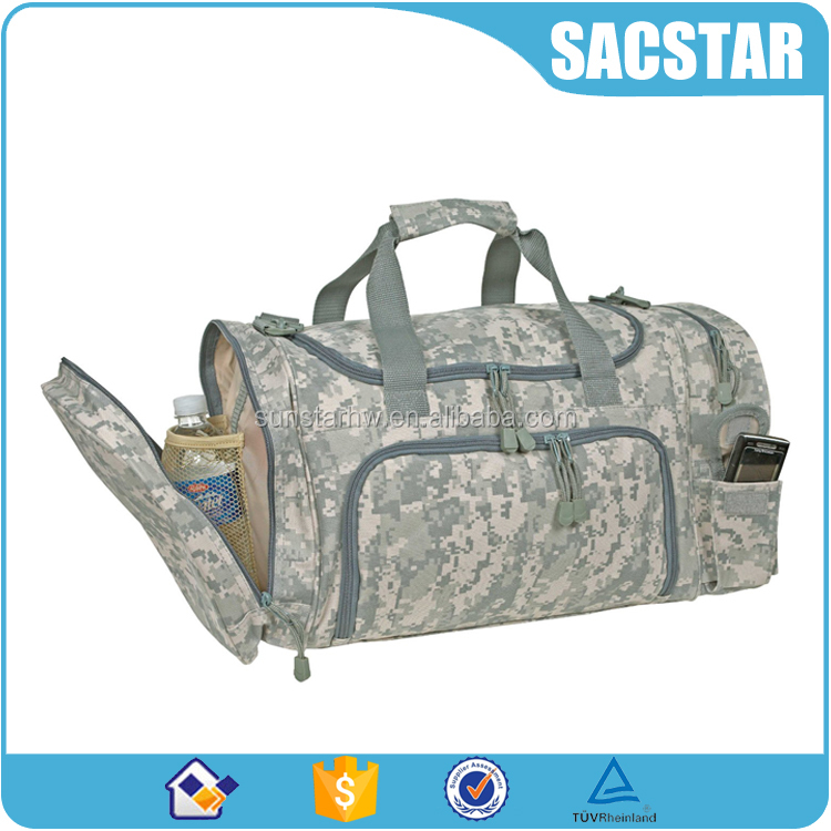 Durable nylon tactical camouflage military duffel bag