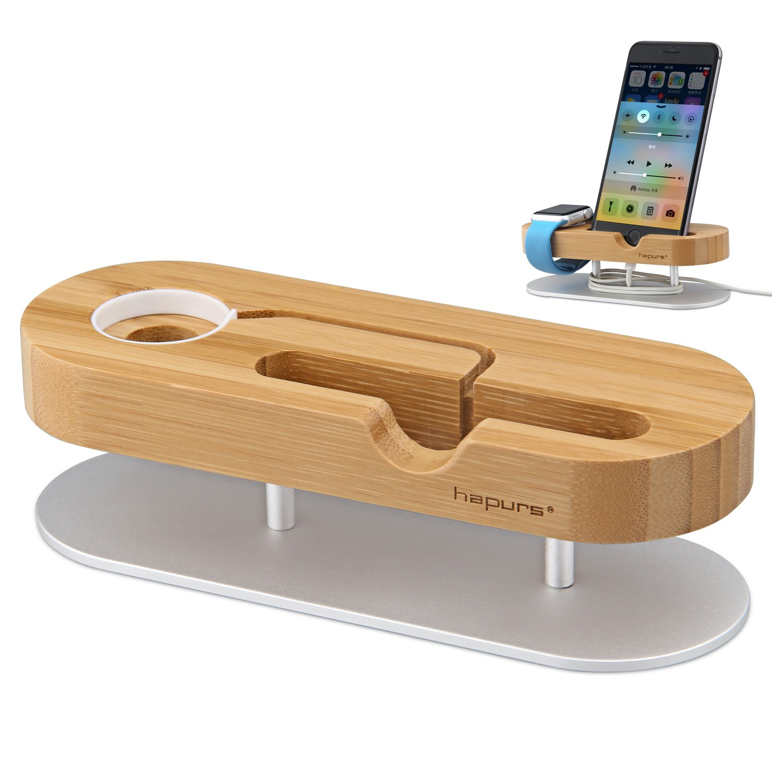 Buy Apple Watch Stand, iphone 7 plus Stand, Trista99 Bamboo