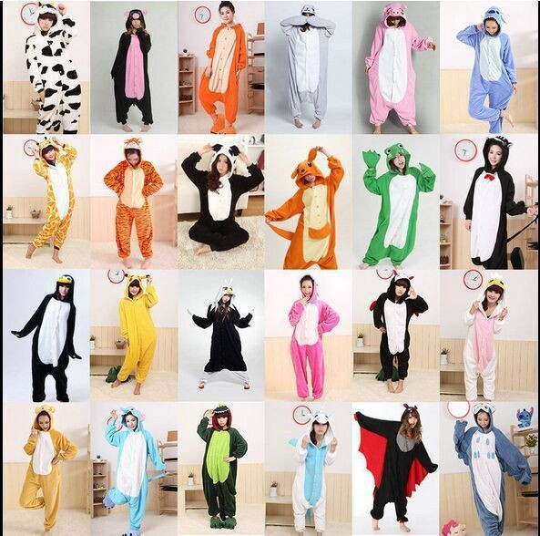 Adults-Flannel-Kigurumi-Pajamas-Onesies-Animal-Cartoon-Pikachu-Cosplay-Costume-Unisex-Homewear