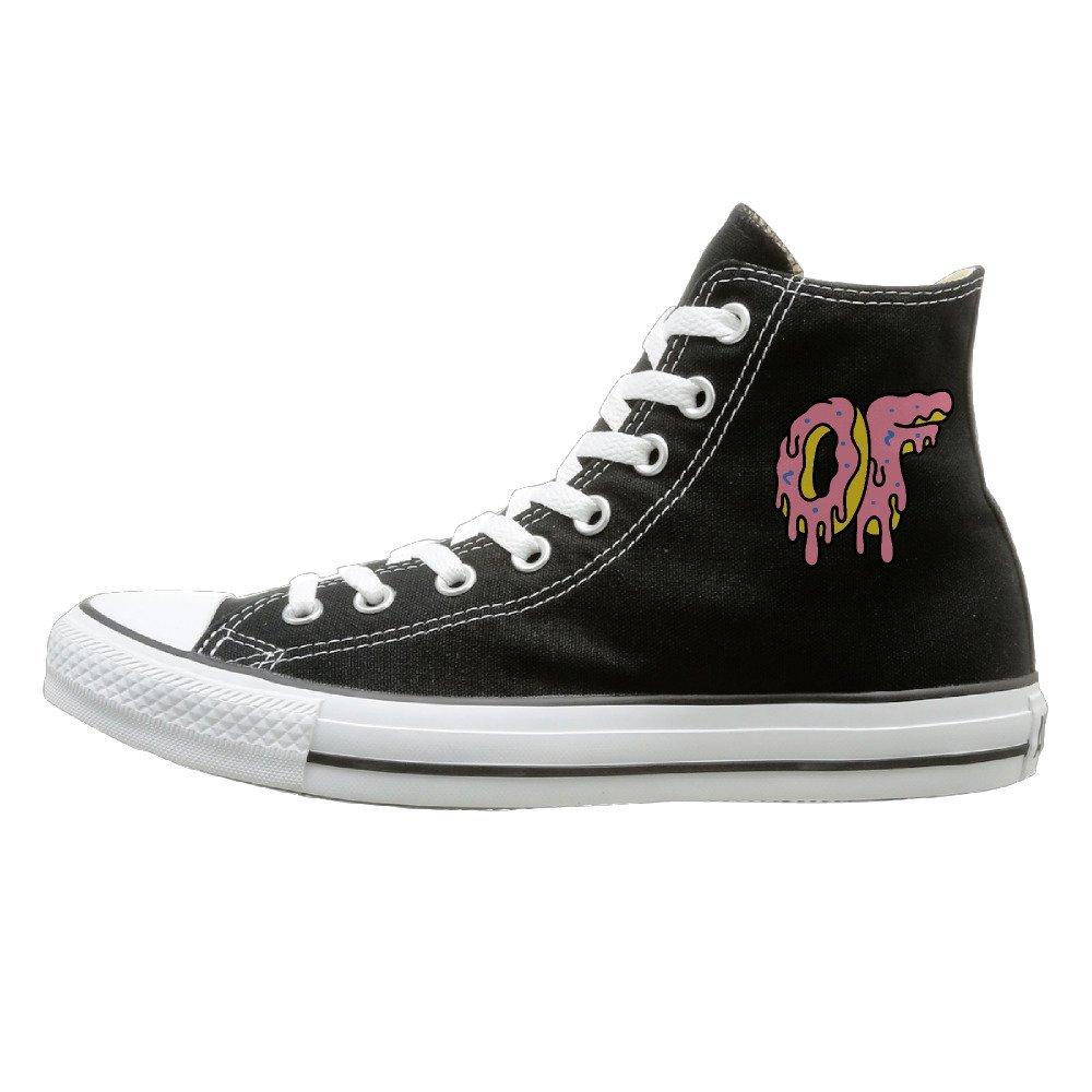 1519f1298b9a Get Quotations · JML Unisex Classic Ofwgkta Odd Future OF Donut Logo  Slip-On Shoes Black