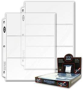 3 slot Coupon Pages for Coupon Organizer Binder (set of 10)