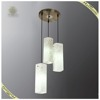 Hot Sale Modern Dining Room Glass Hanging Pendant Light 3 White Pendant Lamp, Decorative Pendant Lighting Fixture