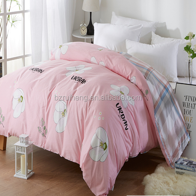 Woven bedding 100% cotton bed sheets with low price