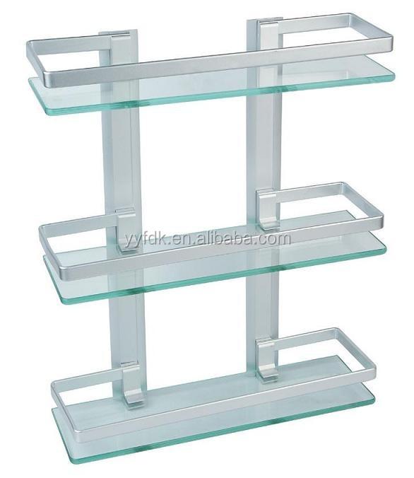 Bathroom Unique Style Three Glass Corner Shelf Buy Three