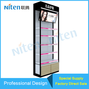 Permanent cosmetic metal floor customized display