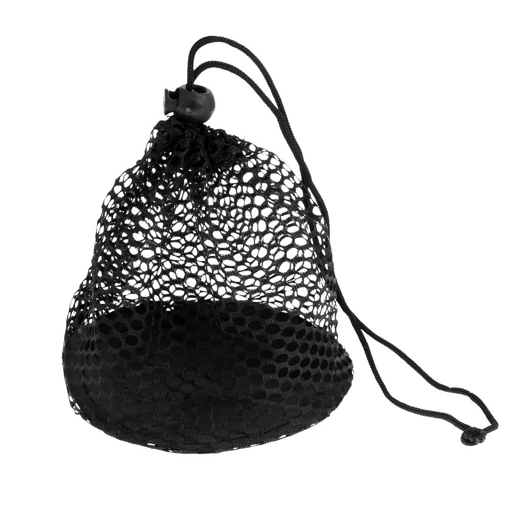 MagiDeal Durable Nylon Mesh Nets Bag Pouch Golf Tennis Ball Carrying Holder Storage Drawstring Closure Bag
