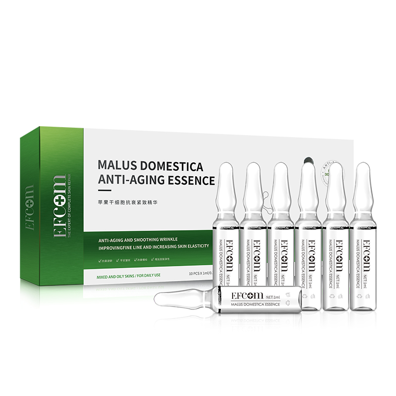 Private Label Rimpel Whitening OEM Hydra Facial Anti Aging Gezicht Ageless Direct Zwitserse Appel Stamcellen Serum