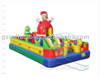 2012 {Qi Ling} christmas santa claus giant inflatable games