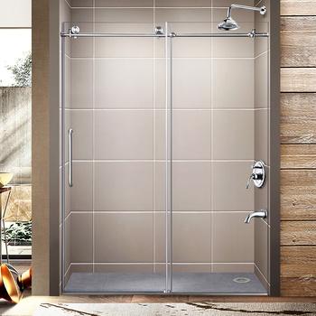 Sunzoom 10mm Frameless Sliding Clear Glass Shower Door With