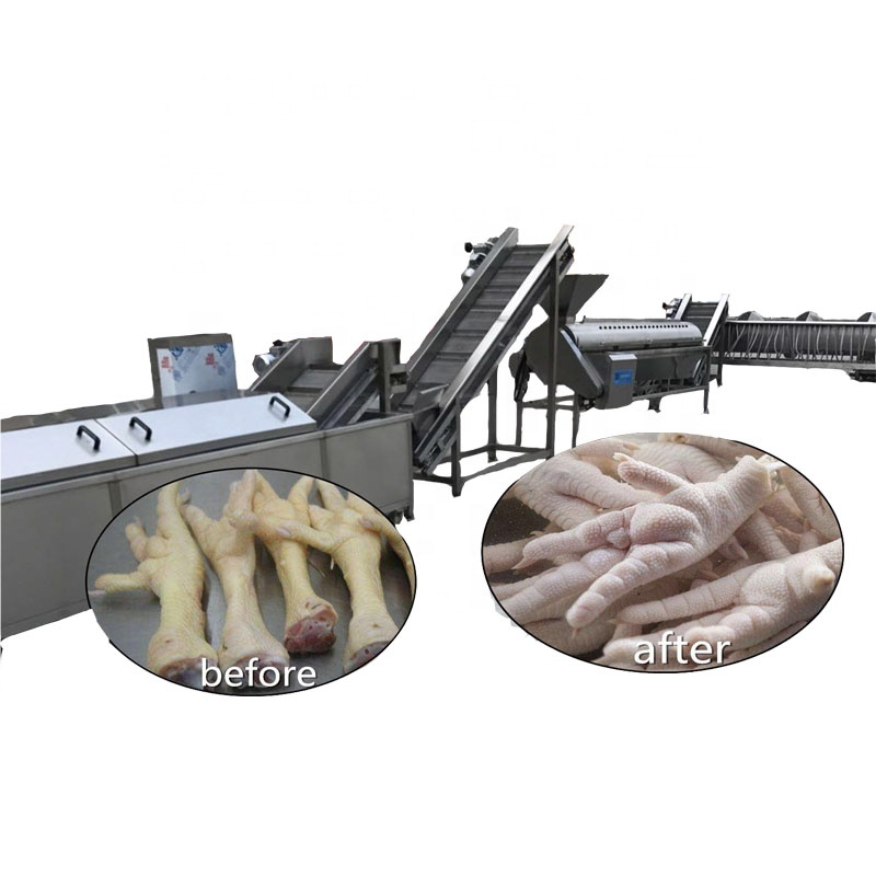 Professional factory price <strong>Chicken</strong> feet <strong>processing</strong> line <strong>chicken</strong> claw cutting machine cutter <strong>chicken</strong> paw peeling machine