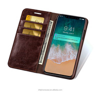 flip Luxury Real Genuine Leather case phone cover with credit card slot for huawei , for Samsung galaxy fame