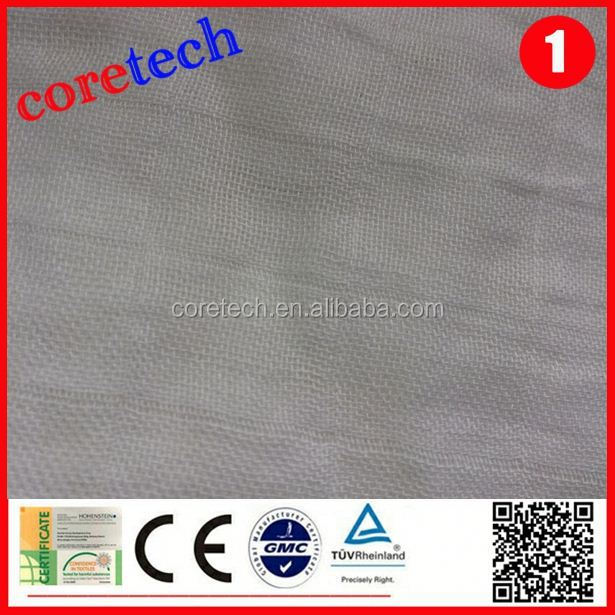 ECO-friendly Breathable natural bamboo muslin fabric factory