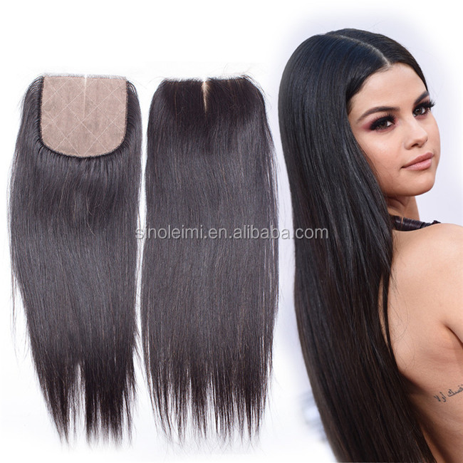 Wholesale Price Middle Part Malaysian Silk Straight Closure With 100% Unprocessed Virgin Malaysian hair