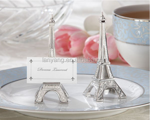 """Evening in Paris"" Eiffel Tower Silver Finish Place Card Holder for wedding (BF704)"