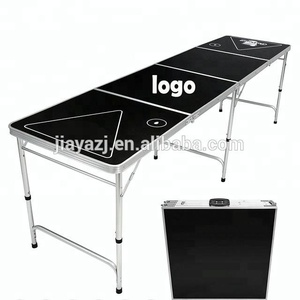 Outdoor portable height adjustable 8ft aluminum folding beer pong table