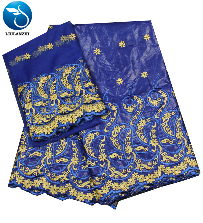 LIULANZHI blue african bazin embroidery fabric 2019 african bazin clothes for men HLB72