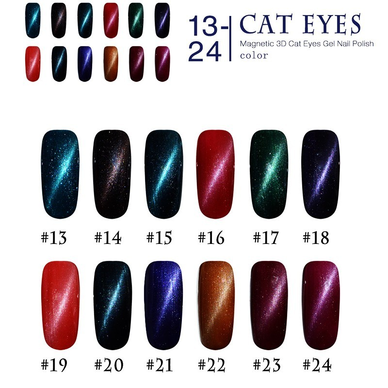 3D Soak Off Magnetic Cat Eyes Gel Nail Polish for UV LED Top Coat