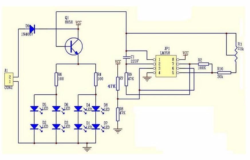Blue Led 5mm Light Lm358 Breathing Lamp Parts Kit