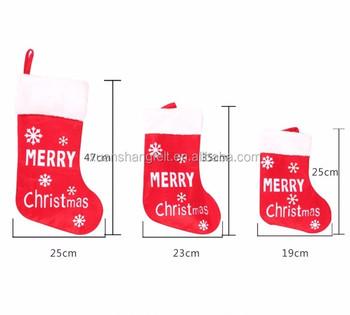 cheap price felt socks mini christmas stockings bulk