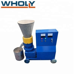 Flat die sawdust biomass wood pellet machine