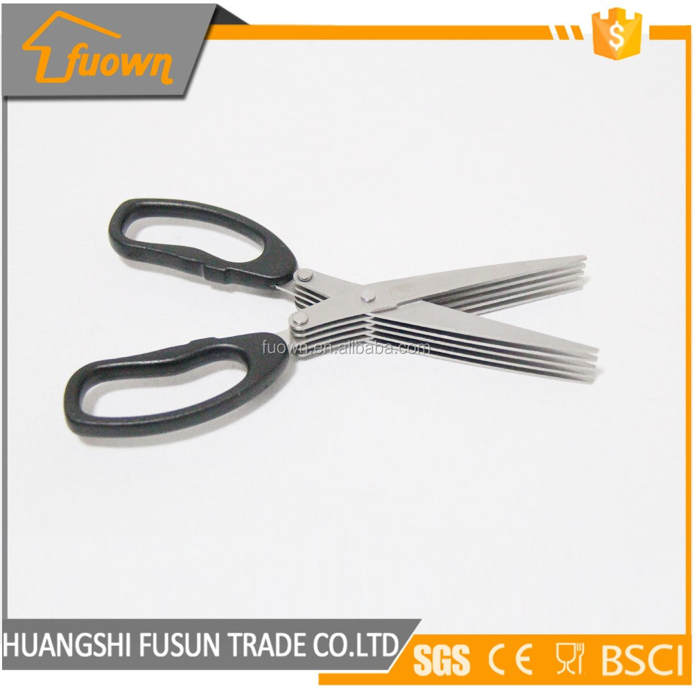 Hot China suply 5 layers stainless steel herb scissor