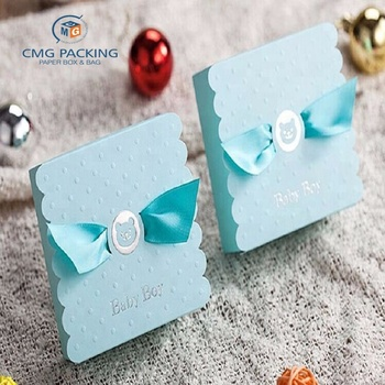 custom Wedding Favor Boxes With Ribbon Baby Shower Wedding Decoration Wholesale