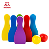 New arrival children play bowling game ball toy wooden bowling set for kids