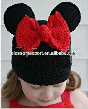 Venda Quente Mickey Meninas Crochê Bebê Chapéus - Buy Atacado Lã De ... ac1eff19ba3