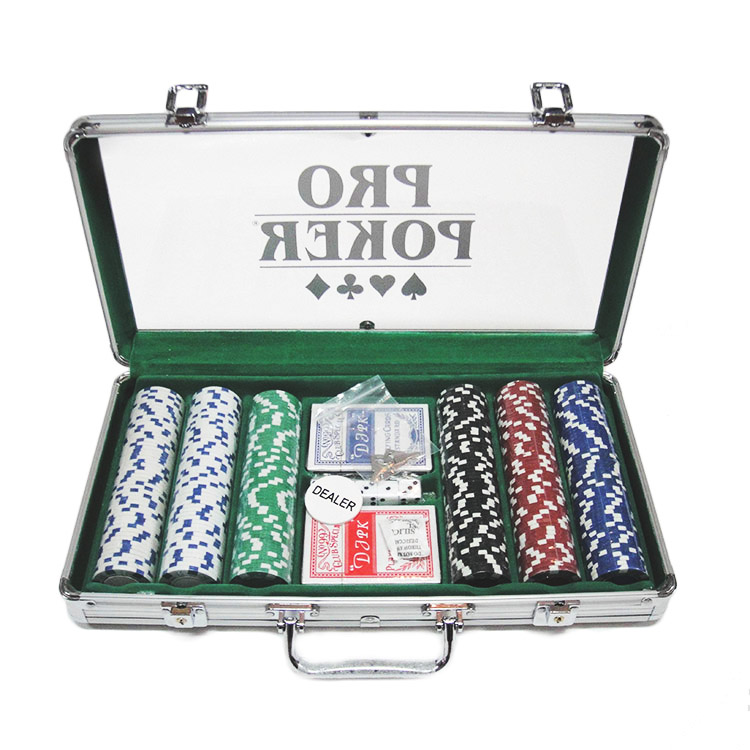 2015 professionele 300 poker chip set in acryl case