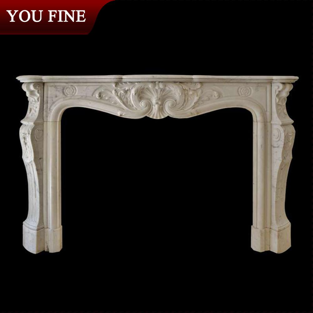 2017 new product natural stone cultured marble fireplace surround