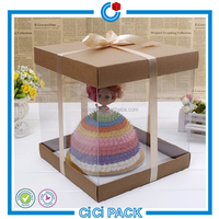 Paper transparent cake boxes,birthday cake boxes packing,cheesecake boxes package