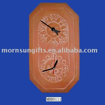 Diy Terracotta Outdoor Clock And Thermometer Buy Outdoor