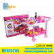 Funny Children Peten Play Serise Restaurant Cart Toy Kitchen Sets