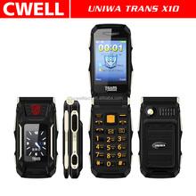 Shenzhen Mobile Phone Manufacturer Feature Mobile Phone Unlocked Trans flip Mobile Phone for Sale