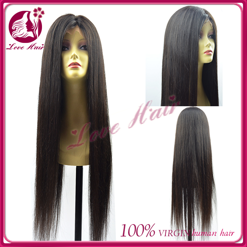 silky straight lots of stock for full lace wig 34inch long without chemical middle parting type authorizing new products brazil