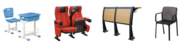 Китай офисная мебель учебная комната Штабелируемый Пластиковый Стул обучение стул с блокнотом