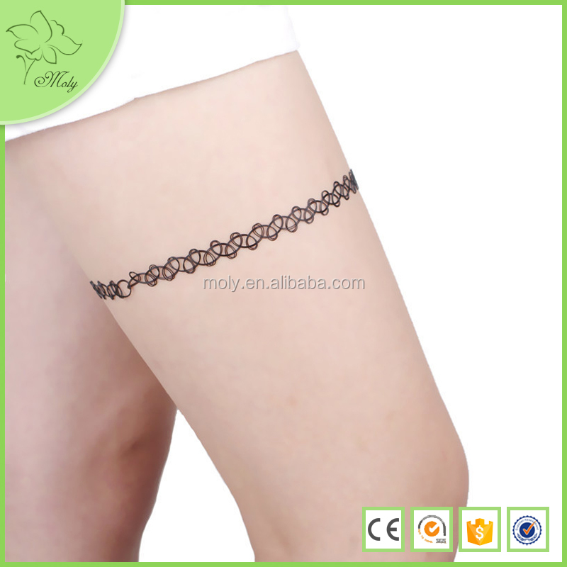 Hochwertige Elastische Hohlen Stoff Tattoo Bein Kette Körper Schmuck