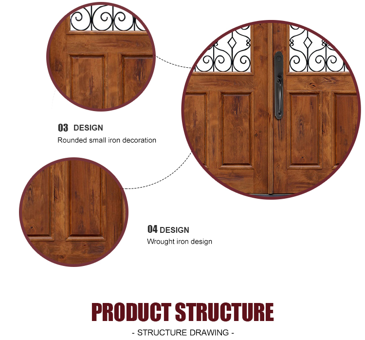 Quality Double Design Wood Doors Outside House Glass Wrought Iron Front Doors  Best Place To Buy