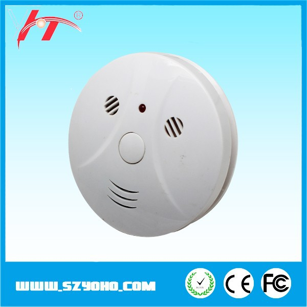 Highly advanced small size work alone 9v hot sale smoke detector for car