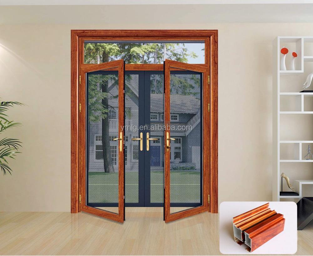 Alta calidad marco de aluminio de la puerta de seguridad diseños con ...