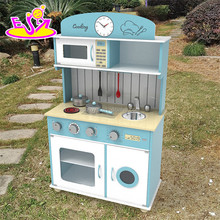 2017 New design children pretend play wooden kitchen playsets W10C266