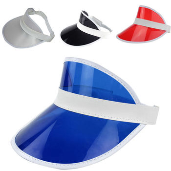 PVC Shade Caps Empty Top Chapeau Sunscreen Hat Beach Hat Sun Visor Cap New  Pop CA232 0bc89cd048a