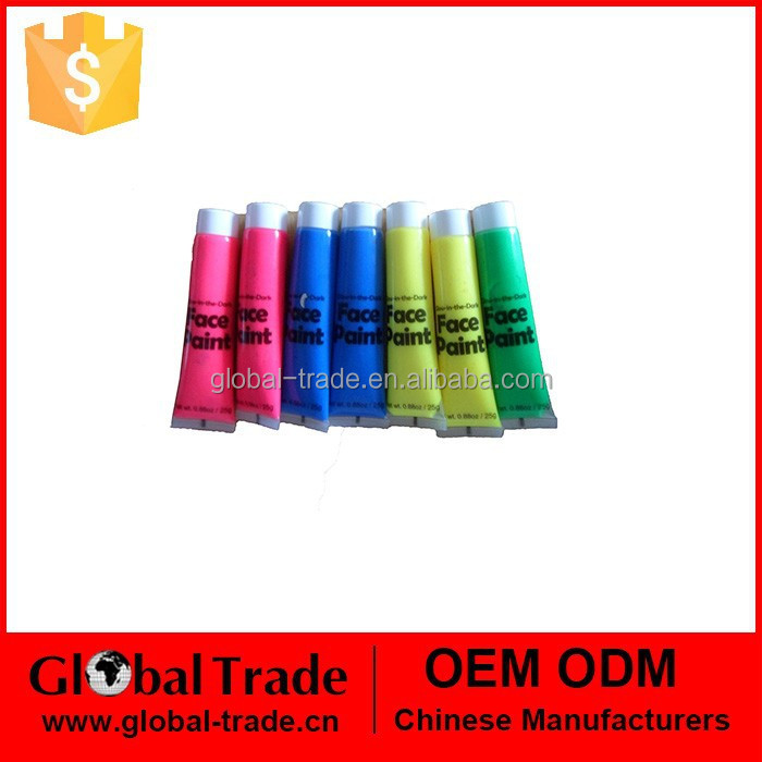 UV /Glow Face Paint Tubes in 50ml for party H0106