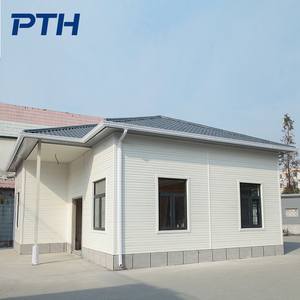 2018 easy to install luxury prefabricated houses light steel frame villas