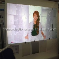 1.52m*30m holographic screen easy install ultra-light rear projection for windows shop ,Soft bright color ,presentation show.