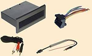 Single Din Radio Installation Part for VW volkswagen Golf Jetta Passat GTI GLI 2002 2003 2004 2005 02 03 04 05- Stereo wiring Harness, Dash Install Kit Faceplate, with FM Antenna Adaptor (Combo Complete Aftermarket Stereo Wire and Installation Kit)