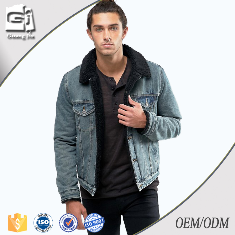 Guangjia Wholesale Denim Jackets OEM Suppliers Mens Clothing Jackets Made In China