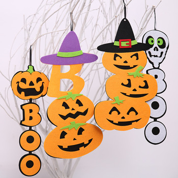Best selling products felt cloth pumpkins ghosts pattern halloween decorations