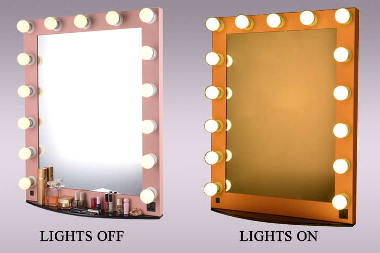 Fancy Salon Lighted Hollywood Makeup Mirror With Base