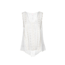 Groothandel V-hals Mouwloze Blouse Lace Vrouwen Tank Top Sexy Borduren Dames <span class=keywords><strong>Zomer</strong></span> Top